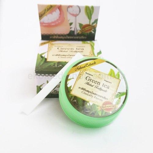 Тайська зубна паста з екстрактом зеленого чаю і травами Rochjana 30 г