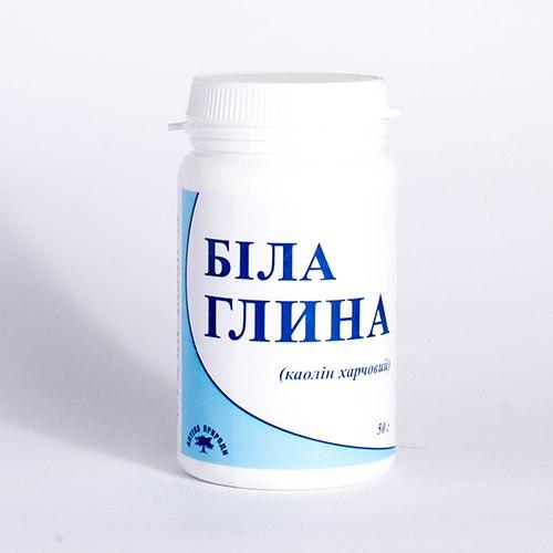Біла глина (Каолін харчовий) Аптека природи 90 капсул