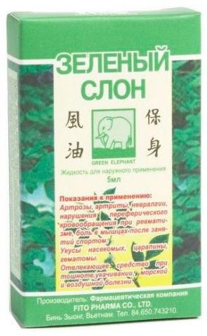 """Слон """"Зелений"""" рідкий бальзам Fito Pharma 5 мл"""