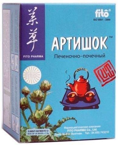 АРТИШОК фіточай пакетований Fito Pharma 1,5 г № 20