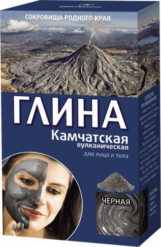 Глина чорна Камчатська вулканічна Фітокосметик 100 гр