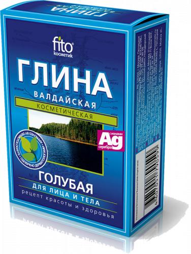 Фіто Глина суха блакитна Валдайська Фітокосметик 100 г
