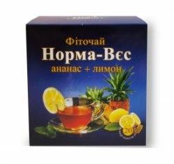 Фіточай № 4 Норма-Вага з ананасом і лимоном Фітопродукт 1,5 г № 20