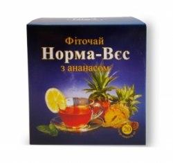 Фіточай № 3 Норма-вага з ананасом Фітопродукт 1,5 г № 20