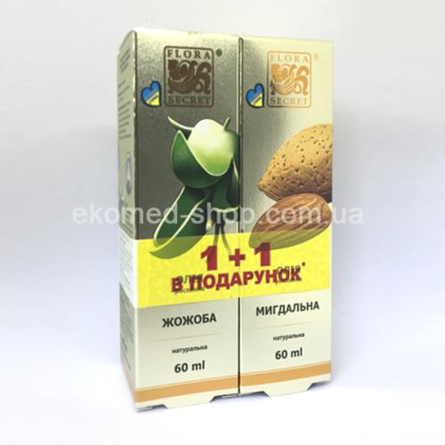 Олія жожоба + олія мигдалю Flora Secret