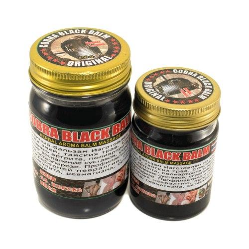 Чорний тайський зміїний бальзам з отрутою кобри NOVOLIFE 50 гр