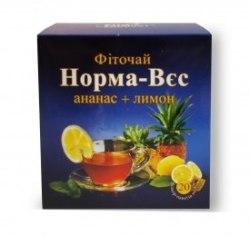 Фіточай № 4 Норма-Вага з ананасом і лимоном (УЦІНКА) Фітопродукт 1,5 г № 20