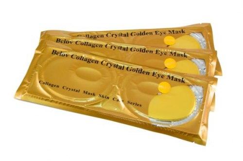 Золота маска-окуляри під очі з колагеном SWLD