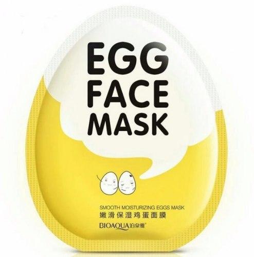 Яєчна зволожуюча маска для обличчя BIOAQUA
