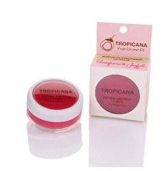 """Бальзам для губ """"Радісний гранат"""" з кокосовою олією Тропікана Tropicana 10 г"""