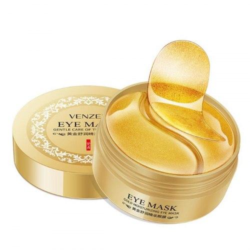 Гідрогелеві патчі GOLD з золотом для очей Eye Mask Venzen 80 г (60 шт)