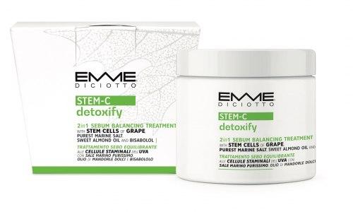 Скраб для кожи головы 2в1 для жирных волос/STEAM-C DETOXIFY Emmediciotto