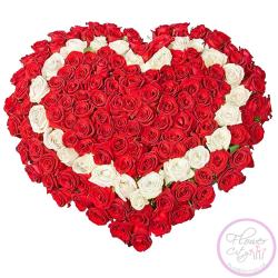 "Цветочная корзина ""Любящее сердце"""