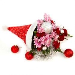 """Новогодний букет """"Подарок от Деда Мороза"""""""