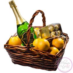"""Подарочная коpзина """"Апельсины с Шампанским"""""""