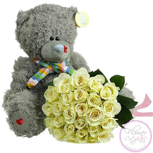 Заказ цветов мишутка из хризантем купить цветы в белоруссии оптом