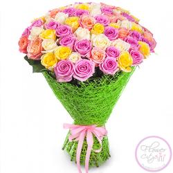 """Букет Роз """"Королева Сада"""" 59 роз."""