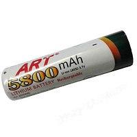Аккумулятор ART 18650, 5800mah ART 18650