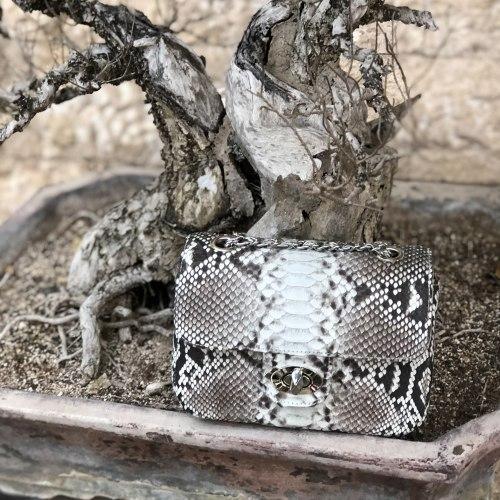 Сумка crossbody из натуральной кожи питона MINI без покраски