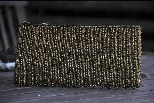 Клатч из бисера бронзового цвета
