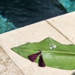 Серьги-кисточки фиолетовые 8 см