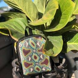 Рюкзак из натуральной кожи питона SIMONE разноцветный