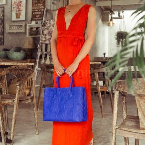 Сумка шоппер LINDA ярко-синяя