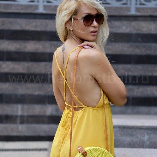 Платье с открытой спиной MANUELLA желтое