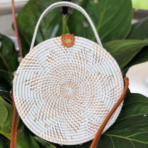 Сумка плетеная BINTANG белая