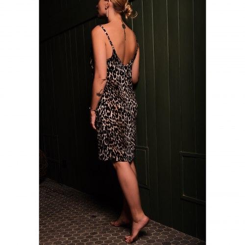 Платье на бретелях ANITA леопард S/M
