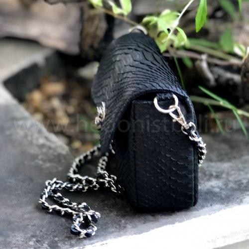 Сумка из натуральной кожи питона GINO mini черная