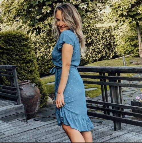 Платье GRETA голубое