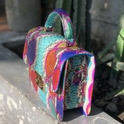 Сумка crosshandle POLETTE разноцветная бирюзовая