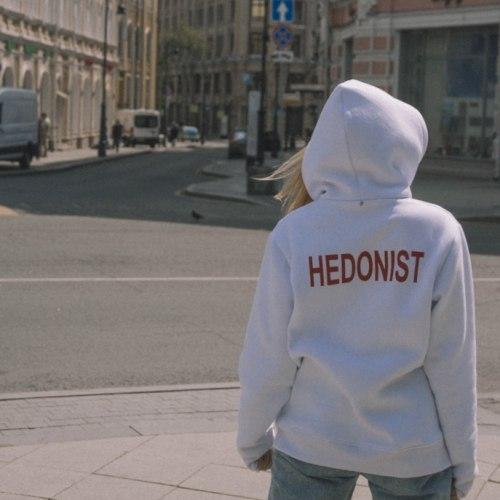 Худи белое с принтом HEDONIST