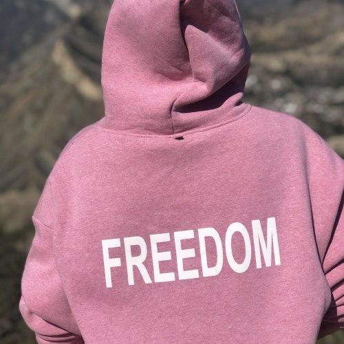 Оверсайз худи розовое FREEDOM