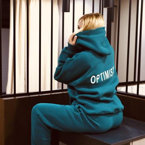 Спортивный костюм OPTIMIST изумрудно сине-зеленый