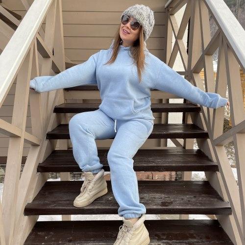 Спортивный костюм OFFLINE голубой