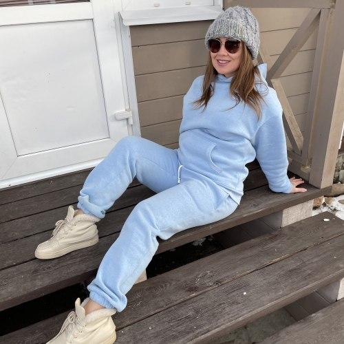 Спортивный костюм I'M YOUR KARMA голубой утепленный
