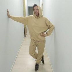 Спортивный костюм бежевый SELFLOVECLUB