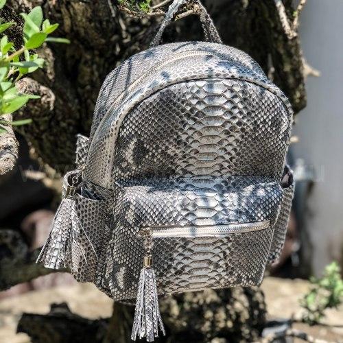 VANESSA Рюкзак из натуральной кожи питона в естественном цвете