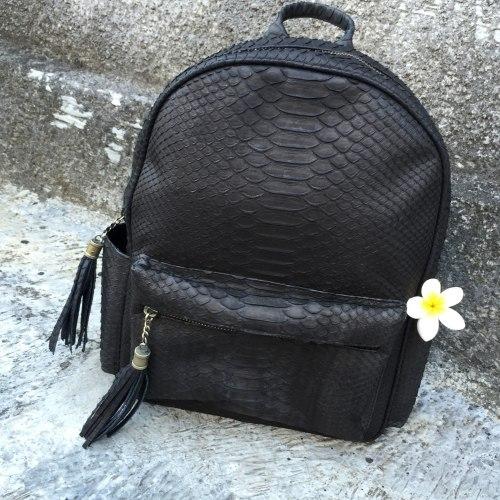 VANESSA рюкзак из натуральной кожи питона черный