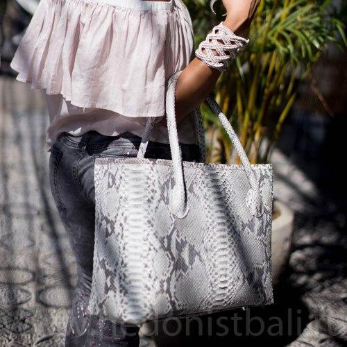 COSTA Сумка шоппер большая в натуральном цвете без покраски