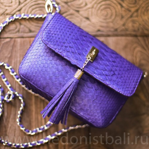 Cумка crossbody TASSEL S фиолетовая