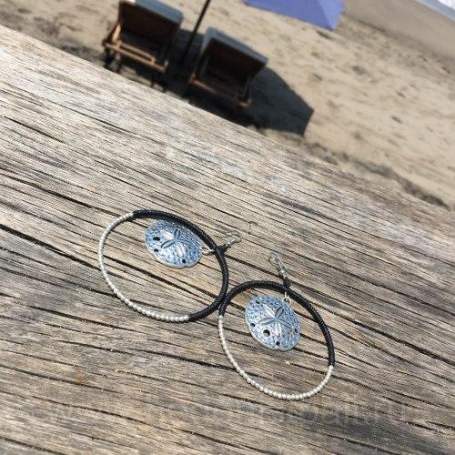 Серьги-кольца большие с морской звездой