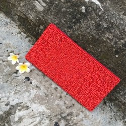Клатч из бисера красный