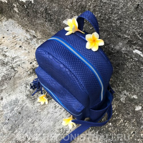 VANESSA рюкзак из натуральной кожи питона синий