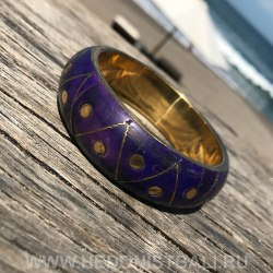 Браслет металлический сине-фиолетовый