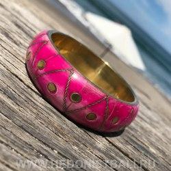 Браслет металлический розовый