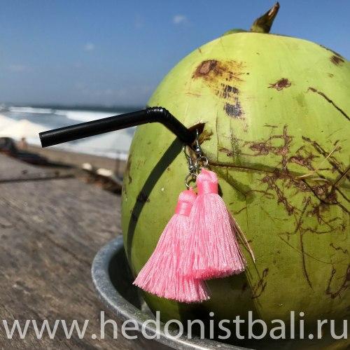 Серьги-кисточки розовые 8 см