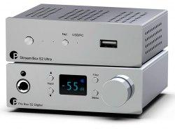 Комплект Pro-Ject S2 CHROME SET: Stream Box S2 Ultra & Pre Box S2 Digital